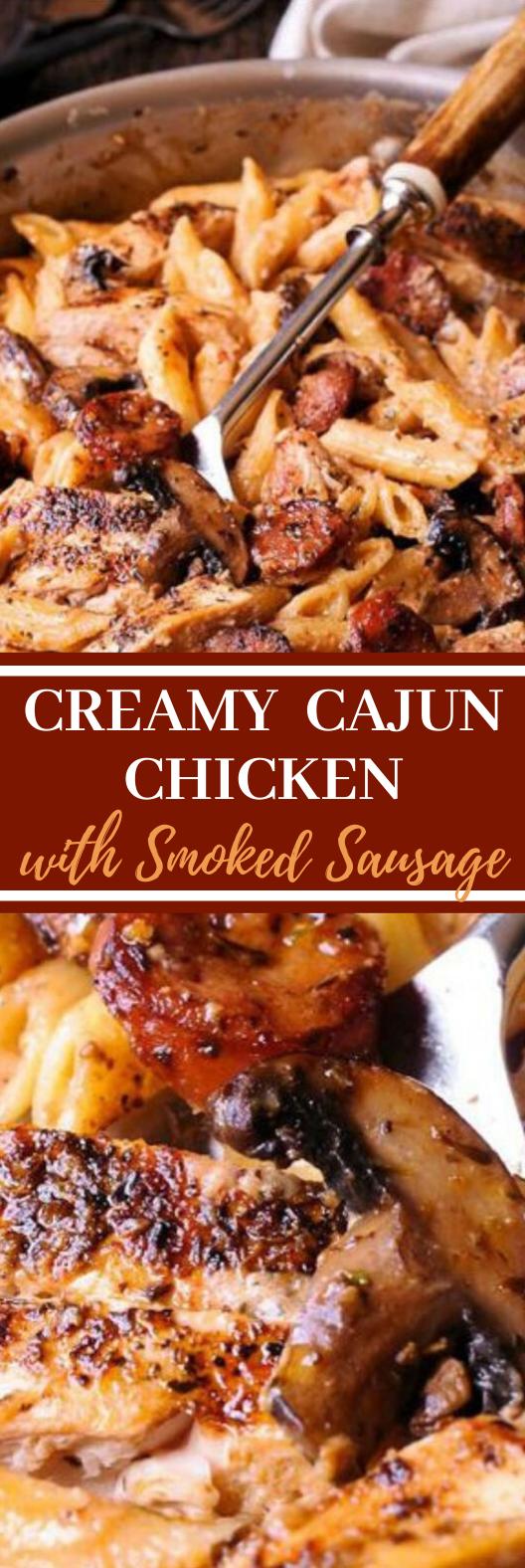 Creamy Cajun Chicken and Sausage Pasta #dinner #pasta #comfortfood #easy #recipes