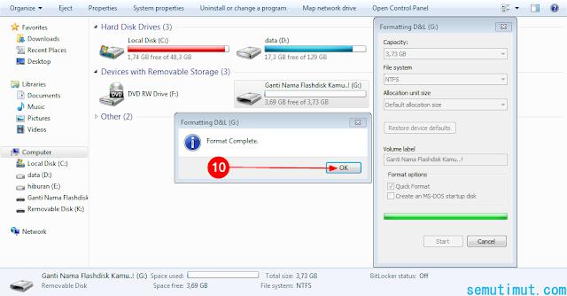 cara memformat flashdisk di laptop windows 10