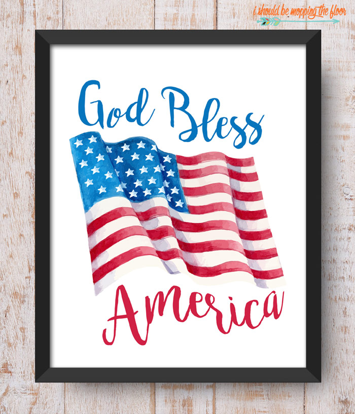 God Bless America Printable