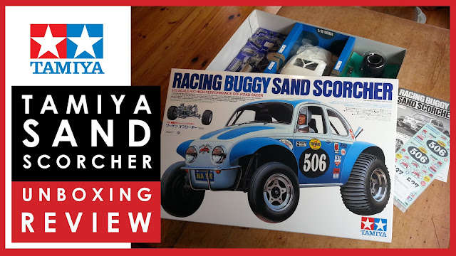 Unboxing the Tamiya Sand Scorcher RC Racing Buggy