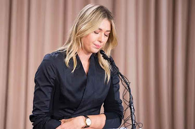 Maria Sharapova press conference Meldonium drug