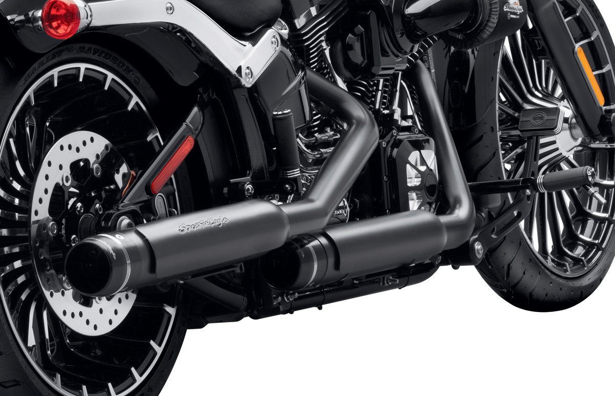 ... Harley-Davidson Softail models with the new Screamin' Eagle® Street  Cannon Slip-On Mufflers from Harley-Davidson® Genuine Motor Parts &  Accessories.