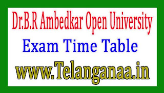 Dr.B.R Ambedkar Open University MBA 3rd Year Dec 2018 Viva Vice Exam Time Table