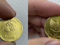 Viral Uang Rp 500 Gambar Melati Dihargai Rp 750.000, BI Ada Rupiah Khusus Terbuat dari Emas