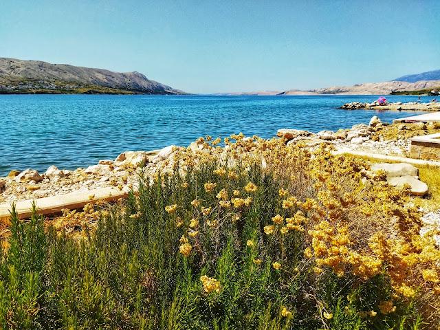 widok na morze, Pag wyspa, Chorwacja