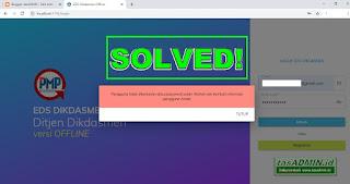 error tidak bisa login pmp
