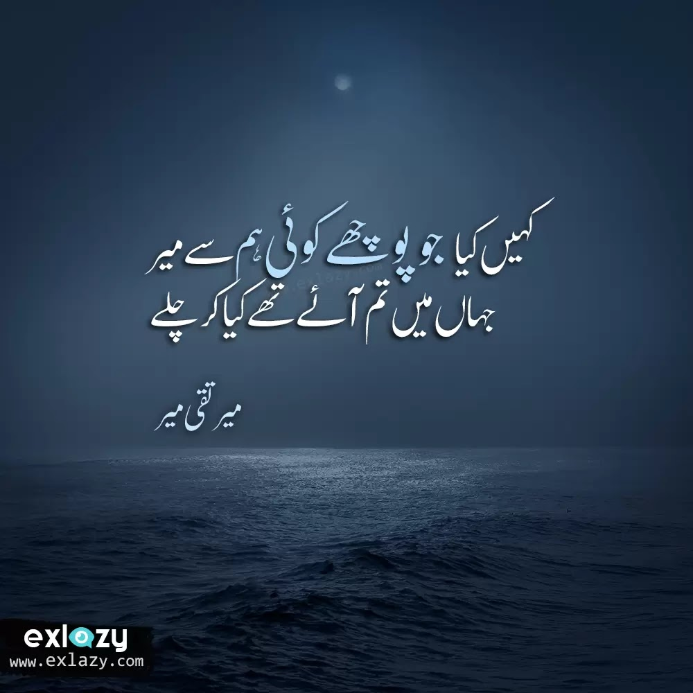 The Best of Mir Taqi Mir Poetry 2 Line