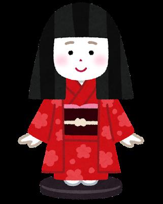 市松人形のイラスト