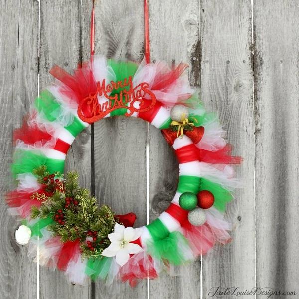 Festive Tutu Wreath
