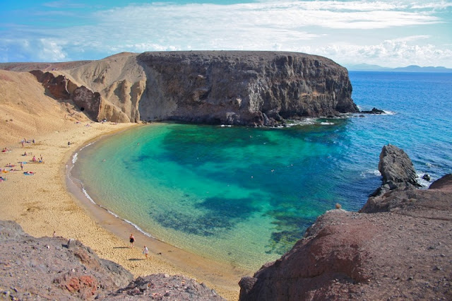 Playa de Papagayo em Lanzarote