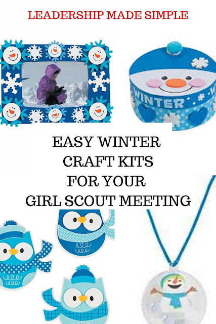 Easy Winter Crafts for your Girl Scout meetings