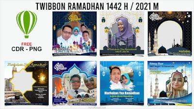 Template Twibbon Ramadhan 1442H