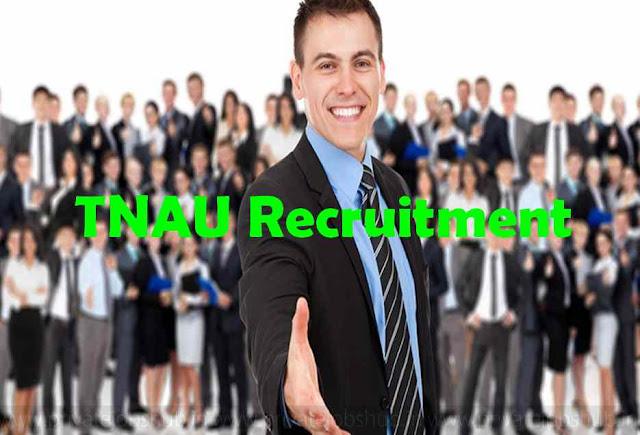 TNAU Recruitment