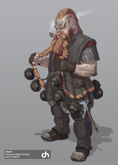 David Heidhoff Concept Art Blog Dwarves and monsters