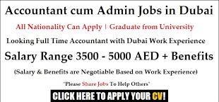 Admin Cum Accounts Assistant Job in Dubai