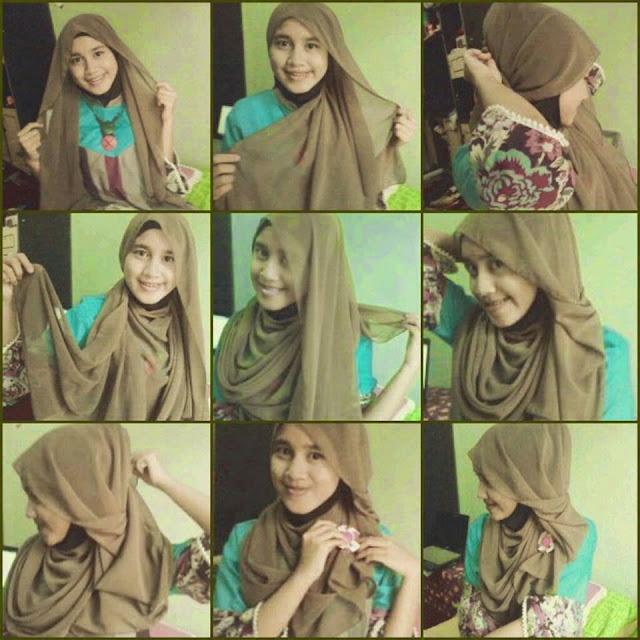 hijab pashmina wajah bulat