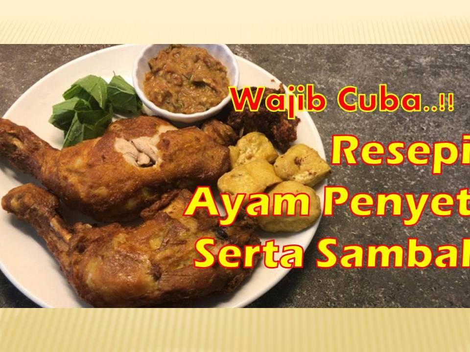 resepi  buat ayam penyet berserta sambal ayam penyet  mudah papaglamzcom Resepi Nasi Ayam Azlina Ina Enak dan Mudah