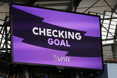 VAR checking goal, VAR