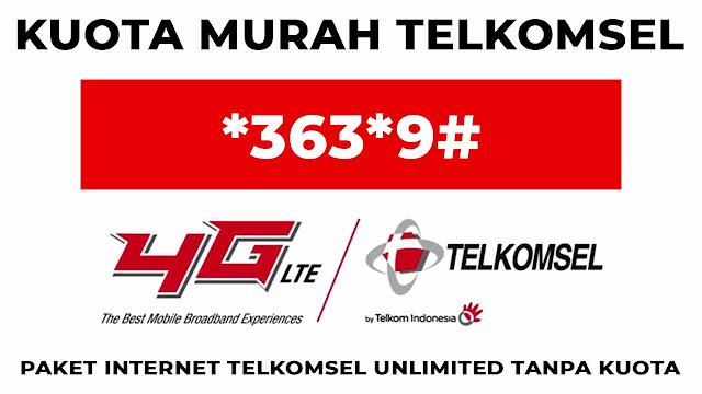 paket internet telkomsel unlimited tanpa kuota