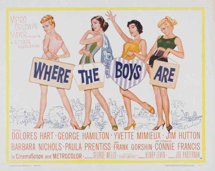 A Vintage Nerd, Vintage Blog, Classic Beach Movies, Old Hollywood Blog, Classic Film Blog, Retro Lifestyle Blog, Where the Boys Are