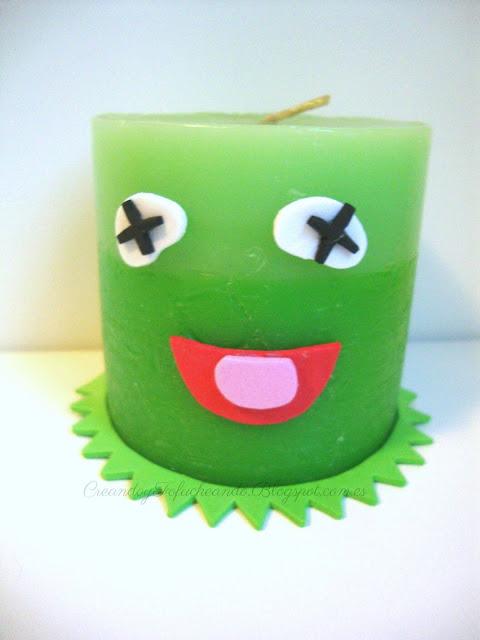 convirtiendo una vela en la rana gustavo