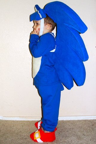 Little Lovables Diy Sonic The Hedgehog And Knuckles Halloween Costume