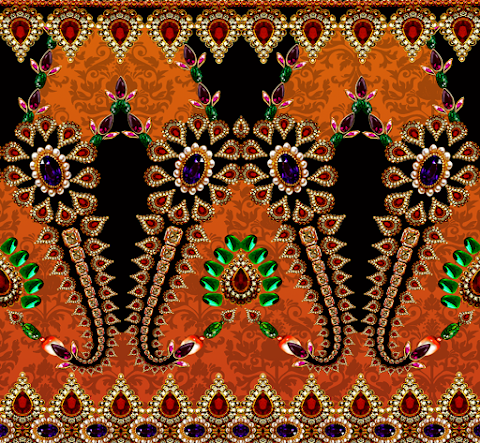 Jwellery-pattern-saree-border-7021