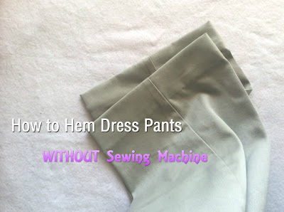 How to Hem Dress Pants WITHOUT Sewing Machine: Blind Stitch Tutorial