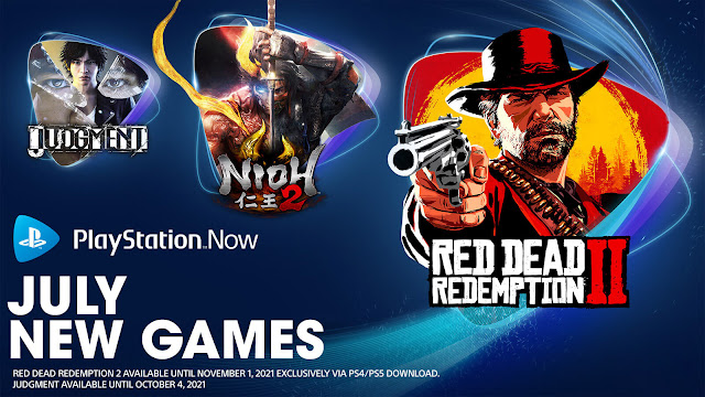 playstation now god of war judgment moving out nascar heat 5 nioh 2 olympic games tokyo 2020 and red dead redemption 2 pc ps4 ps5 lineup july 2021 sony