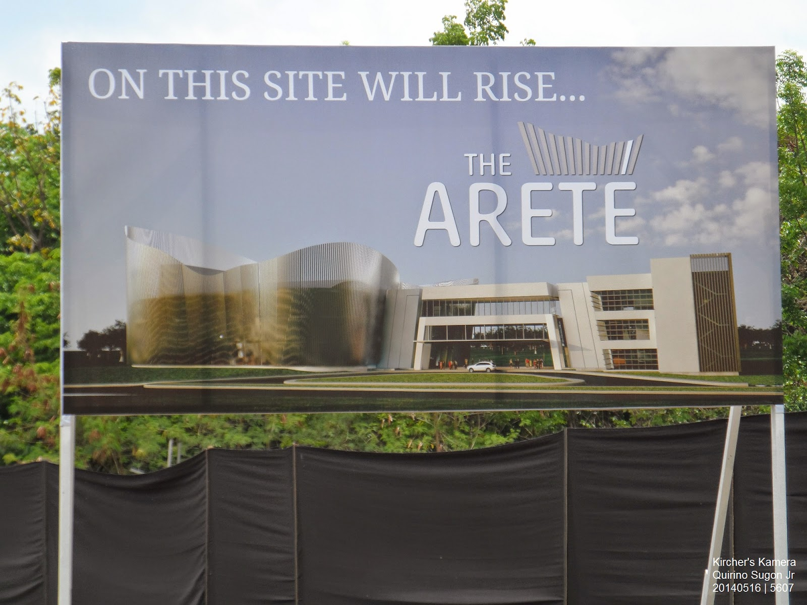 Billboard: On this site will rise the Arete