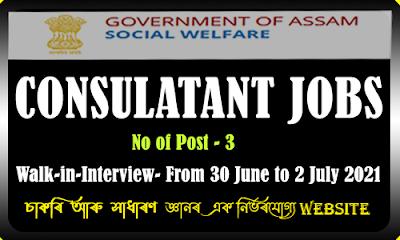 Social Welfare Department Assam Recruitment - IT/ Technical Consultant Position