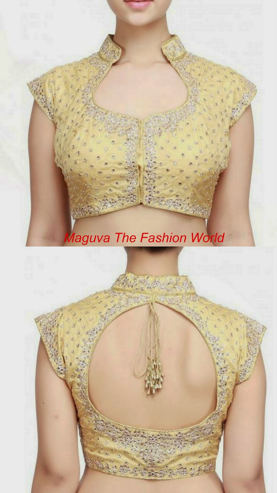 Gold Color Designer Blouse - Blouse Styles