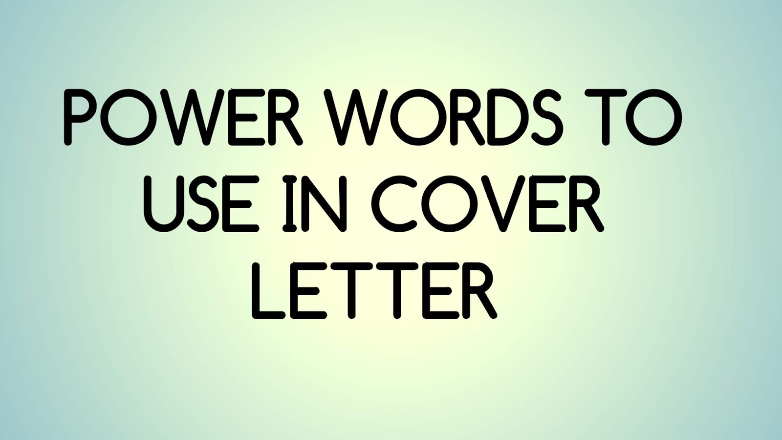 words to use in cover letter