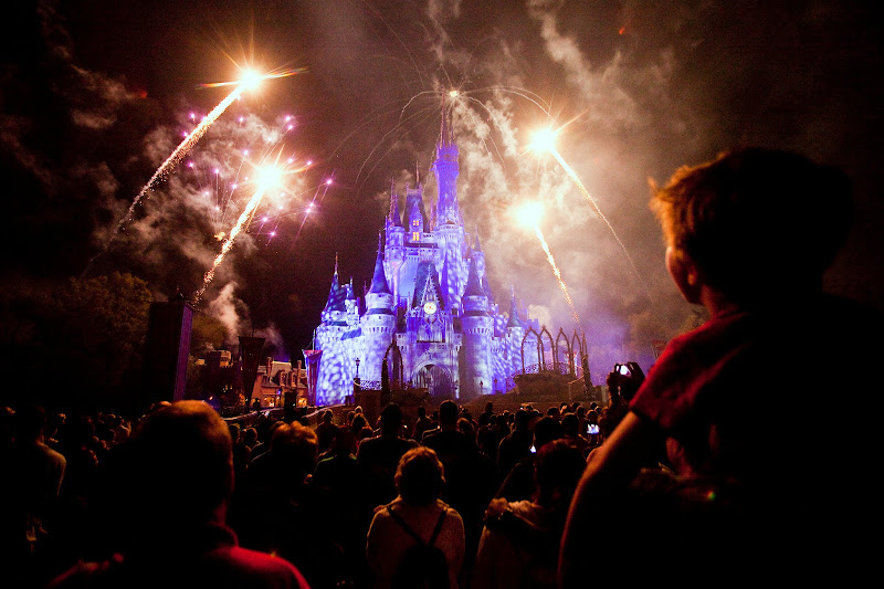 Fireworks at Cinderella's Castle in the Magic Kingdom at Disney World