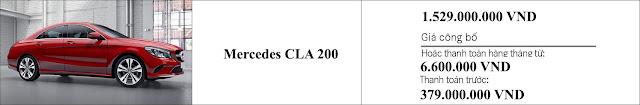 Giá xe Mercedes CLA 200 2019 tại Mercedes Trường Chinh
