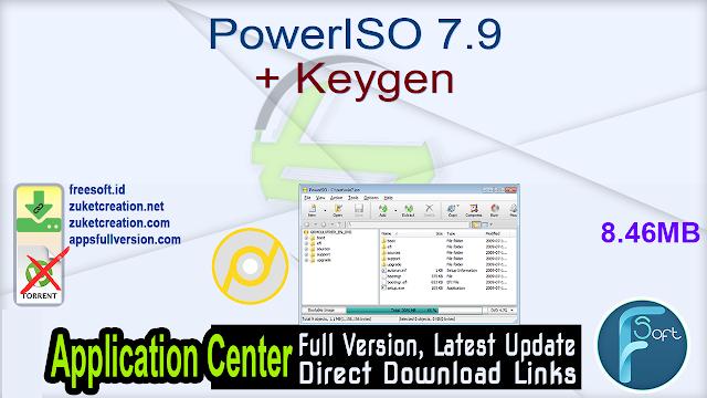 PowerISO 7.9 + Keygen