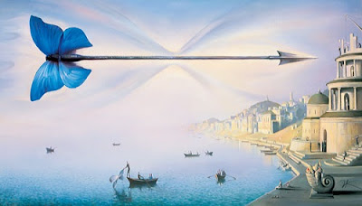 "Vladimir kush ""Arrow of Time"" Giclee on Canvas"