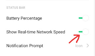 Notification Bar Me Internet Speed Kaise Dekhe