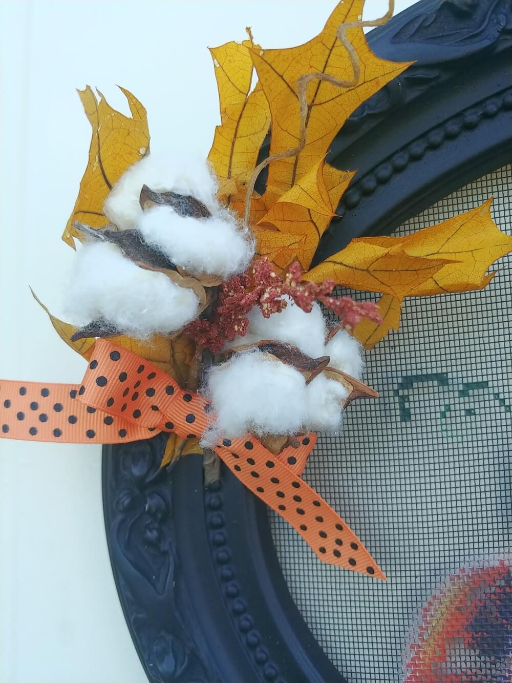Pumpkin Screen Painting - 7 Days of Thrift Shop Flips