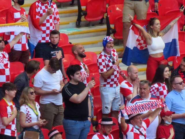Croatia fans at Wembley