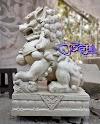 Patung singa samsi batu alam paras jogja