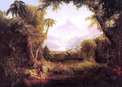 old painting of the garden of eden