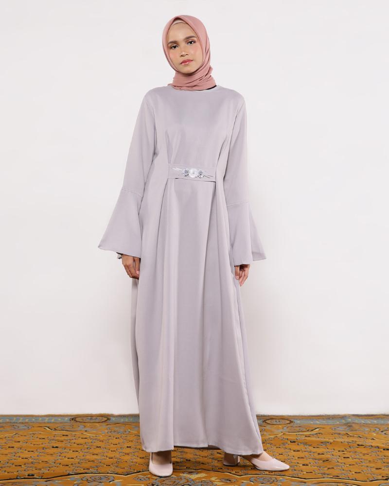 Gamis Aksen Serut model baju lebarna keren