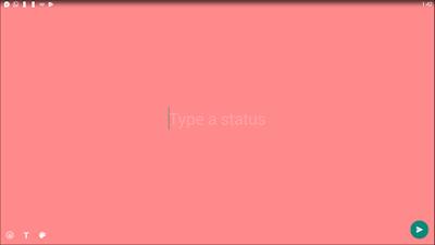 WhatsApp Text Status Update - type status