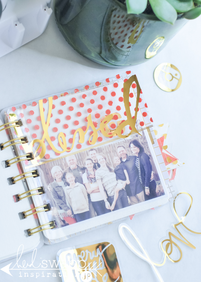 Heidi Swapp Mixed Media from @michaels mixed with photos and clear overlays creates a fun little scrapbook album for a gift. @jamiepate for @heidiswapp