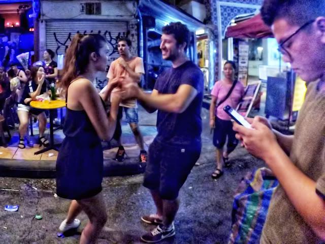 street dance at Khao San Road Bangkok Thailand