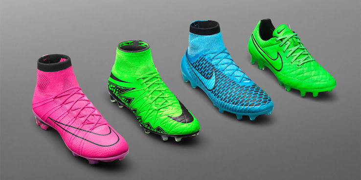 f5db091f82c3 The new Nike Lightning Storm Boots Pack introduces electric colorways for the  Nike Hypervenom 2, Nike Magista, Nike Mercurial and Nike Tiempo Boots to  stand ...
