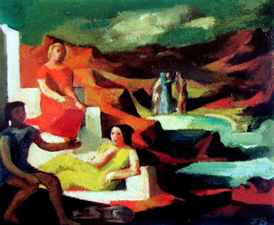 Classical Figures in a Rocky Landscape,Jean Bellette