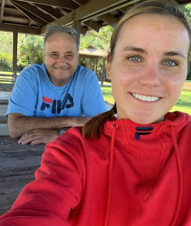 Sofia Kenin With Her Dad