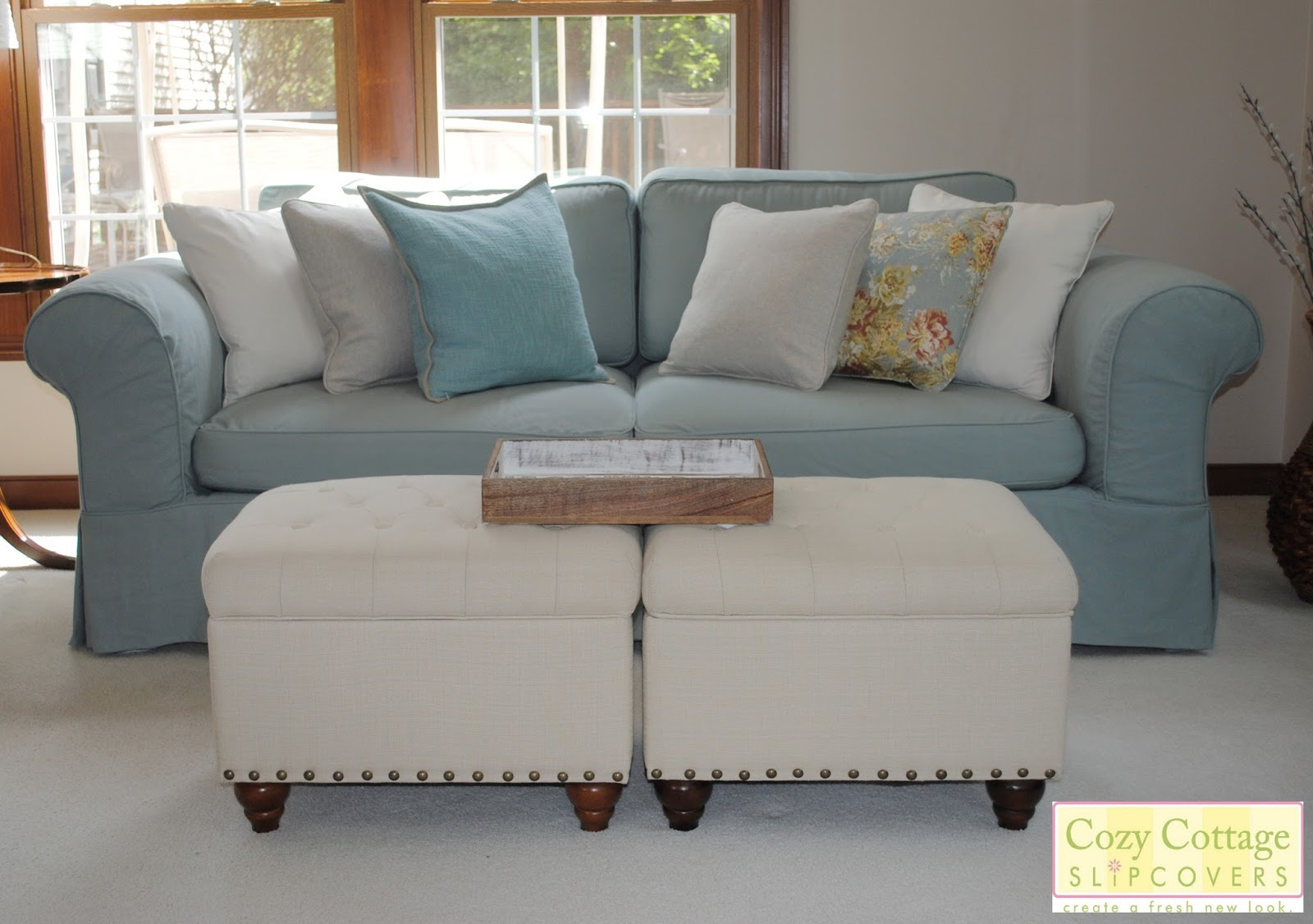 cozy cottage slipcovers fresh new look with slipcovers. Black Bedroom Furniture Sets. Home Design Ideas